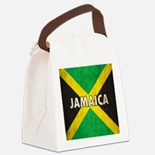 Jamaica Grunge Flag Canvas Lunch Bag