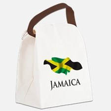 Map Of Jamaica Canvas Lunch Bag