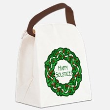 Celtic Solstice Wreath Canvas Lunch Bag