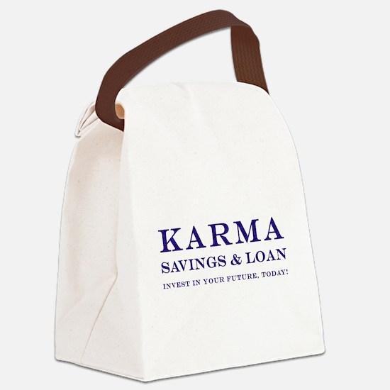 Karma Savings and Loan Canvas Lunch Bag
