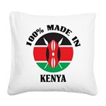 Made In Kenya Square Canvas Pillow