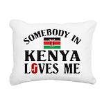 Somebody In Kenya Rectangular Canvas Pillow