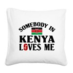 Somebody In Kenya Square Canvas Pillow