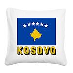 Kosovo Square Canvas Pillow
