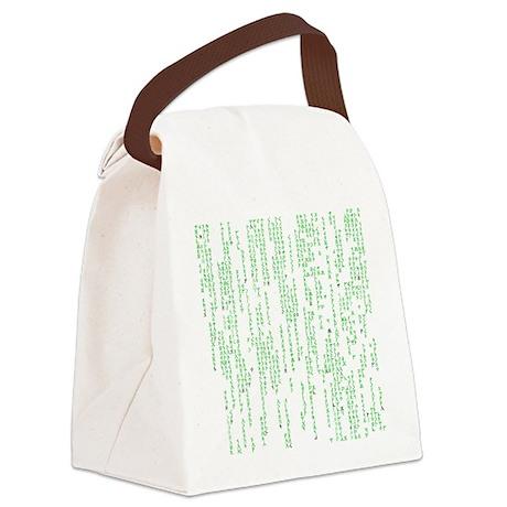 Viking Runes Matrix Canvas Lunch Bag