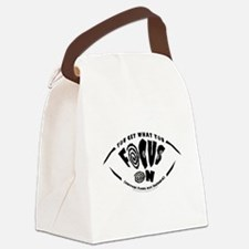 You Get What You Focus On Canvas Lunch Bag