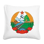 Laos Coat Of Arms Square Canvas Pillow