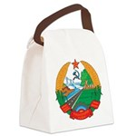Laos Coat Of Arms Canvas Lunch Bag