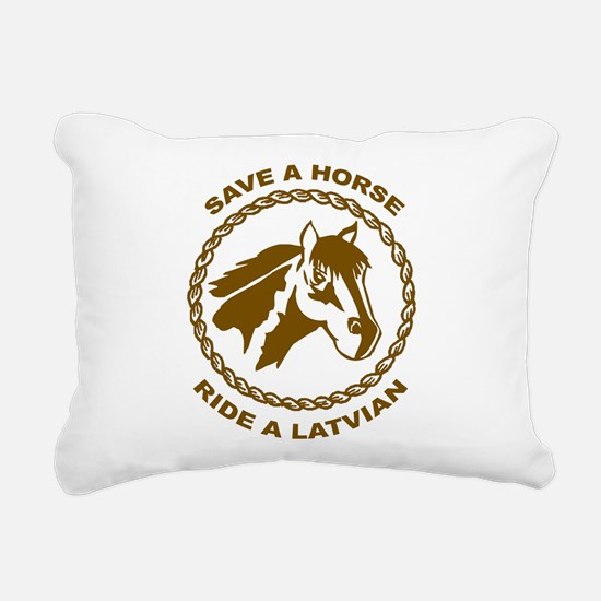 Ride A Latvian Rectangular Canvas Pillow