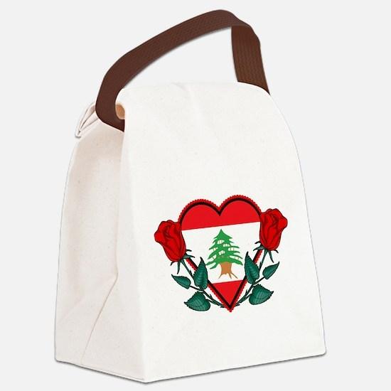 Heart Lebanon Canvas Lunch Bag