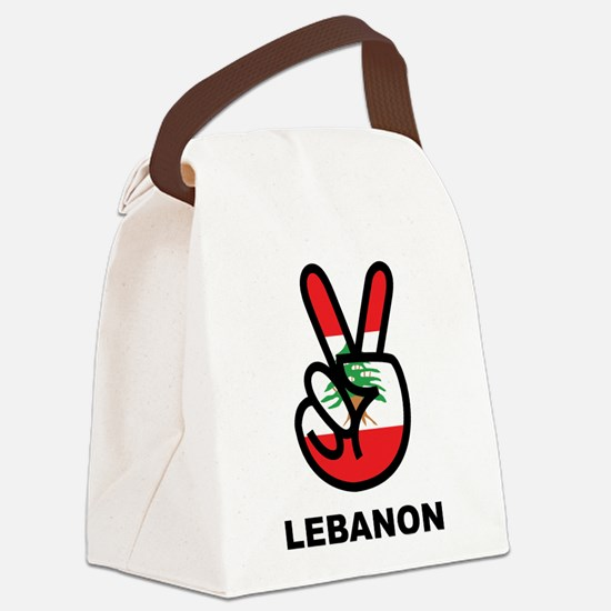 Peace In Lebanon Canvas Lunch Bag