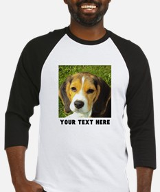 Dog Photo Personalized Baseball Tee