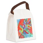 Multicolor Oak Leaf Art Canvas Lunch Bag