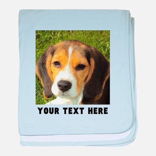 Dog Photo Personalized baby blanket