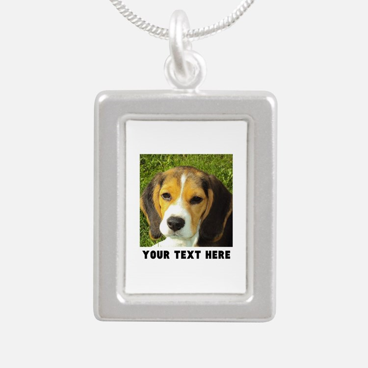 Dog Photo Personalized Silver Portrait Necklace