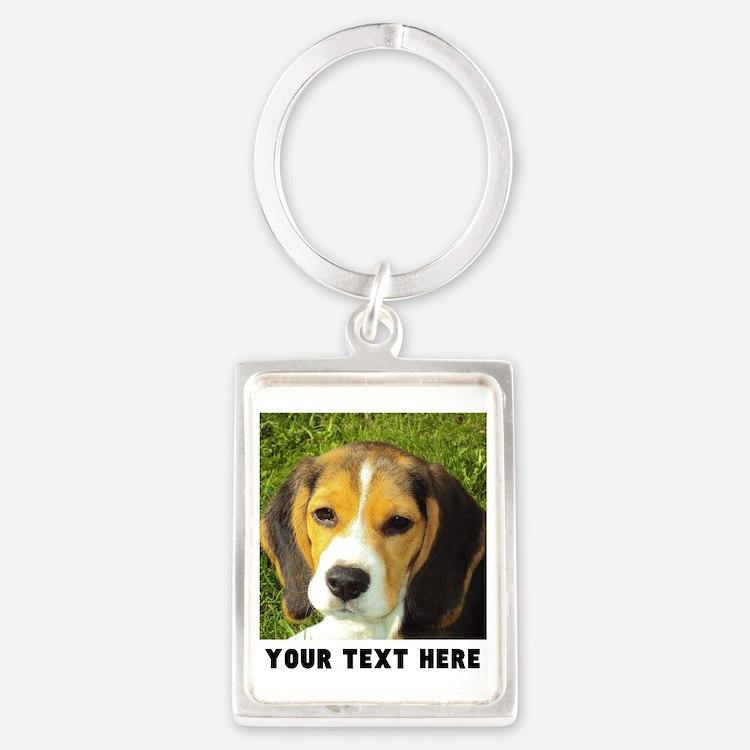 Dog Photo Personalized Portrait Keychain
