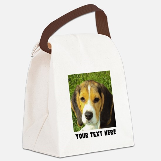 Dog Photo Personalized Canvas Lunch Bag