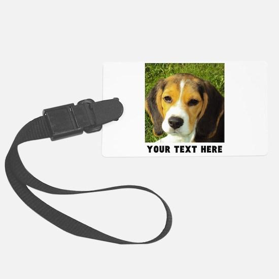 Dog Photo Personalized Large Luggage Tag