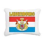 Luxembourg Flag Rectangular Canvas Pillow