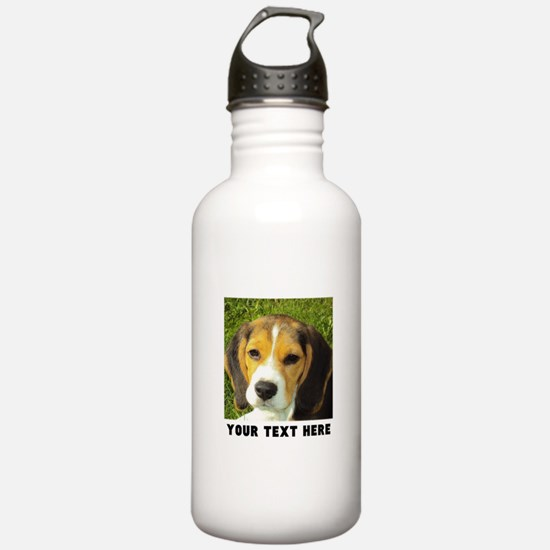 Dog Photo Personalized Water Bottle
