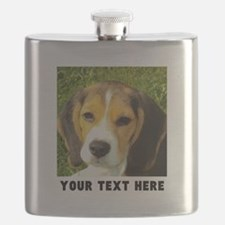 Dog Photo Personalized Flask
