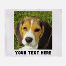 Dog Photo Personalized Throw Blanket