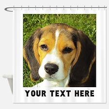 Dog Photo Personalized Shower Curtain