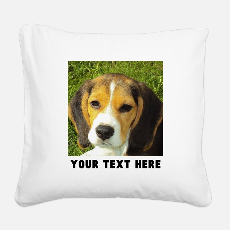 Dog Photo Personalized Square Canvas Pillow