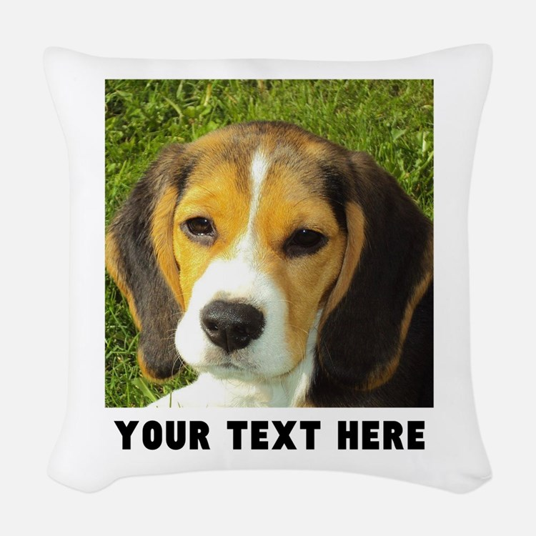 Dog Photo Personalized Woven Throw Pillow