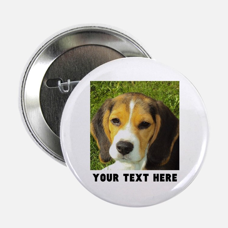 """Dog Photo Personalized 2.25"""" Button"""