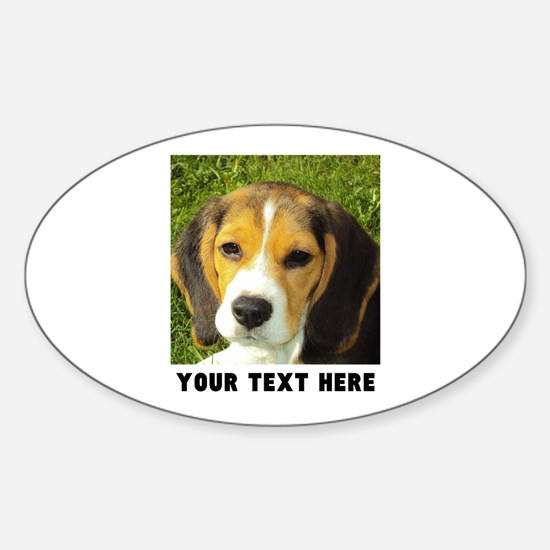 Dog Photo Personalized Sticker (Oval)