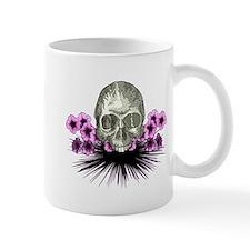 Skull in flowers Mug