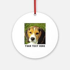 Dog Photo Personalized Round Ornament