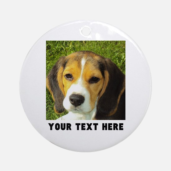 Dog Photo Personalized Round Ornament