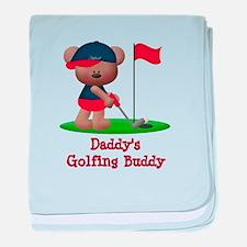 Daddys Golfing Buddy baby blanket