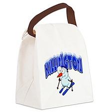 Killington Snowman.png Canvas Lunch Bag