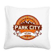 Park City Tangerine Square Canvas Pillow