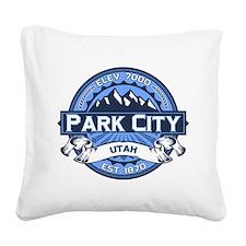 Park City Blue Square Canvas Pillow