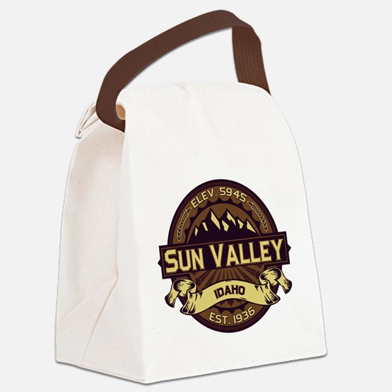 Sun Valley Sepia Canvas Lunch Bag