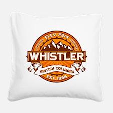 Whistler Tangerine Square Canvas Pillow