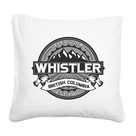 Whistler Grey Square Canvas Pillow