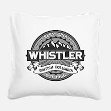 Whistler Grey Square Canvas Pillow