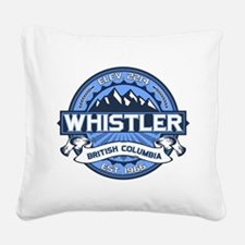 Whistler Blue Square Canvas Pillow