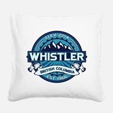 Whistler Ice Square Canvas Pillow