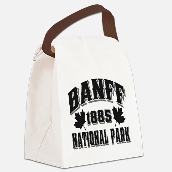 Banff NP Old Style Obsidian.png Canvas Lunch Bag