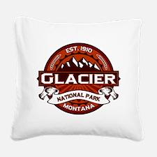Glacier Crimson Square Canvas Pillow