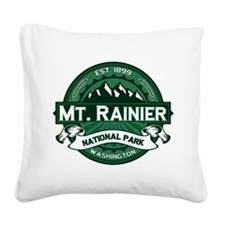Mt. Rainier Forest Square Canvas Pillow