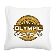 Olympic Goldenrod Square Canvas Pillow