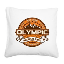 Olympic Pumpkin Square Canvas Pillow