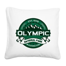 Olympic Forest Green Square Canvas Pillow